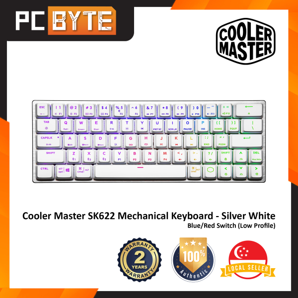 Cooler Master SK622 - Hybrid Wireless Gaming Mechanical Keyboard (Red/Blue Switch | Space Grey/Silver White) Singapore