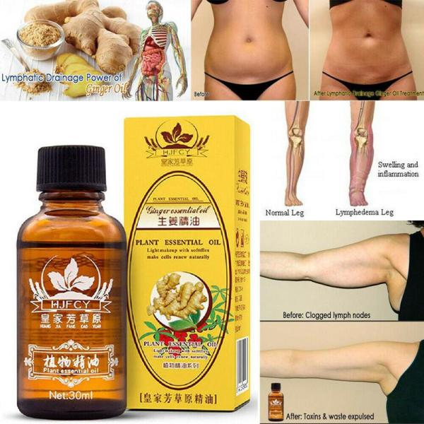 Buy 1+2 Natural Plant Therapy Lymphatic Drainage Ginger Oil Massage Essential Oil Singapore