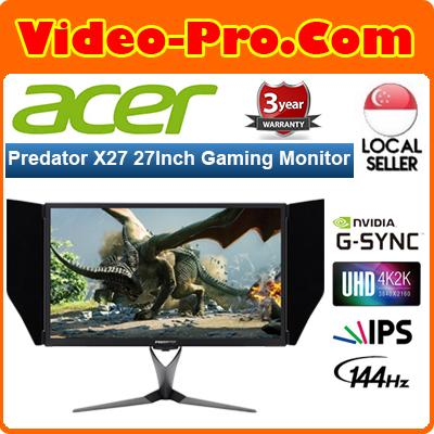 Acer Predator X27 27Inch 144Hz 4K/Ultra HD HDR IPS G-Sync Gaming Monitor