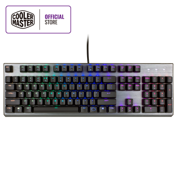 Cooler Master CK350 Mechanical Keyboard, Outemu Switches, RGB Illumination, Floating Keys, Smoky Gunmetal Brushed Aluminum Design (Full Layout / 108 Keys) Singapore