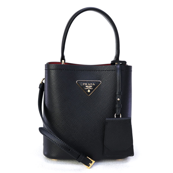 Prada Double Saffiano leather bucket bag 1BA217