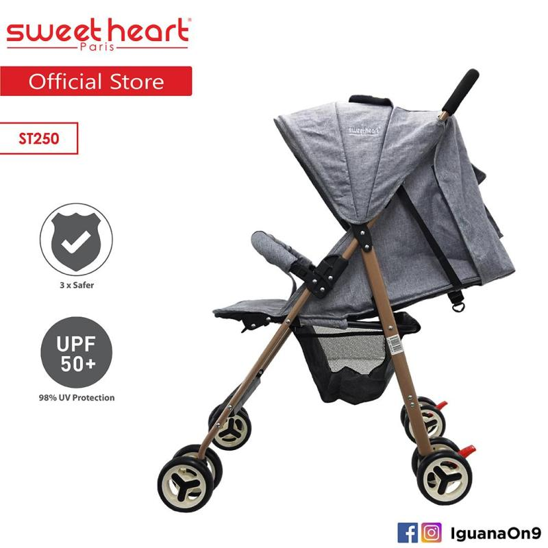 Sweet Heart Paris ST250 New Edition Compact Size Stroller with Multipostion Adjusted Backrest Singapore
