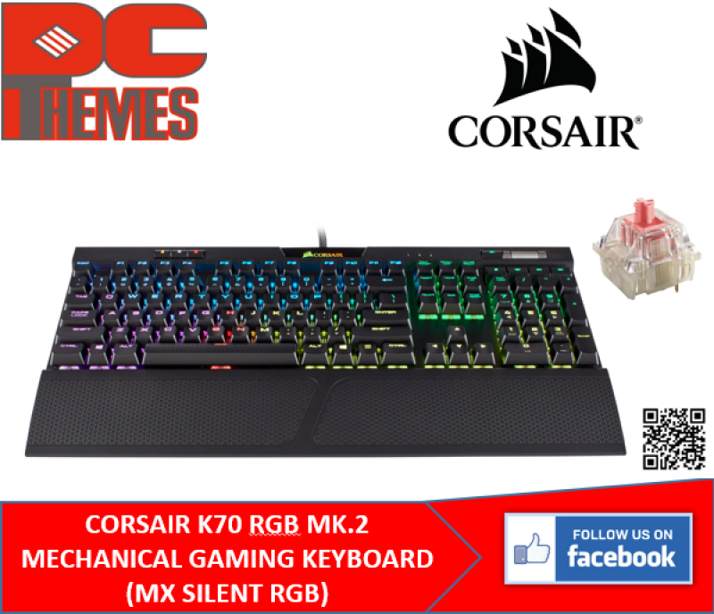 CORSAIR K70 RGB MK.2 LOW PROFILE GAMING KEYBOARD (SPEED / BLUE ) SWITCH Singapore