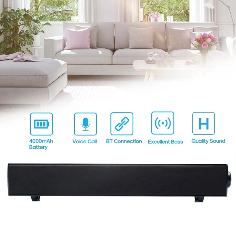 BT168 Wireless BT Speaker Sound Box Support AUX TF Card U Disk USB Powered Built-In 4000Mah Rechargeable Batteries Compatible with Android / IOS Mini Portable