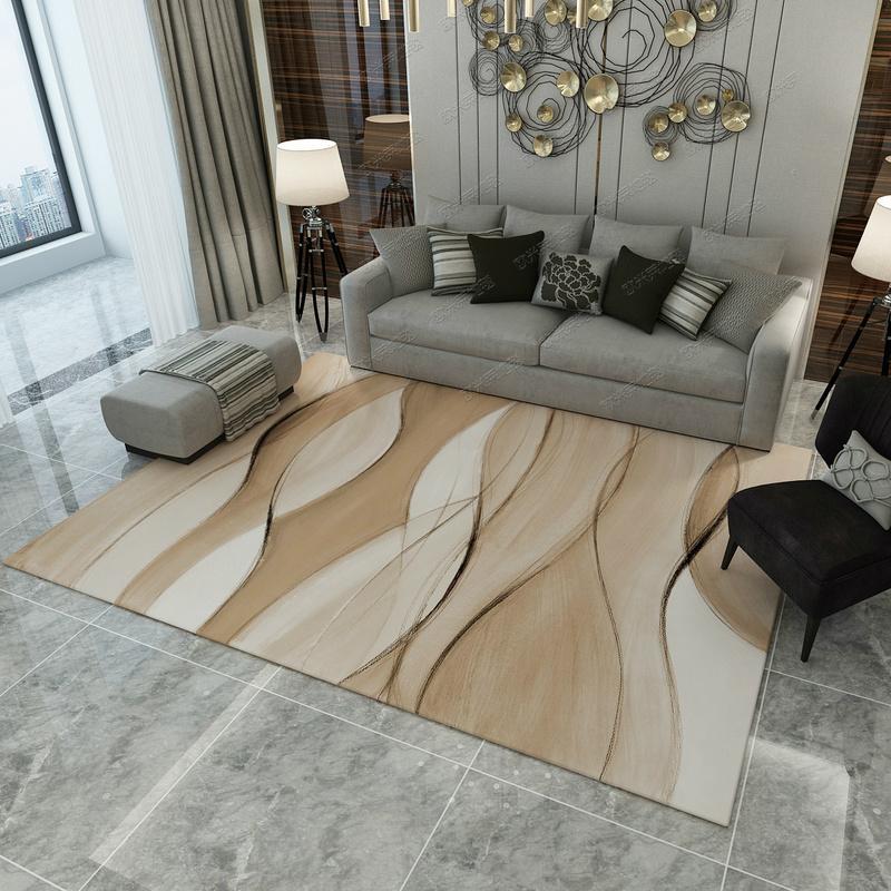 Nordic Minimalist Abstract Art Rug Living Room Teapoy Table Bedroom Rug Wall-to-Wall Bedside Pad Household Rug Rectangular