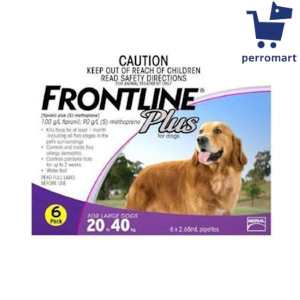 Frontline Plus For Large Dogs 20.1kg To 40kg - 6 Doses.