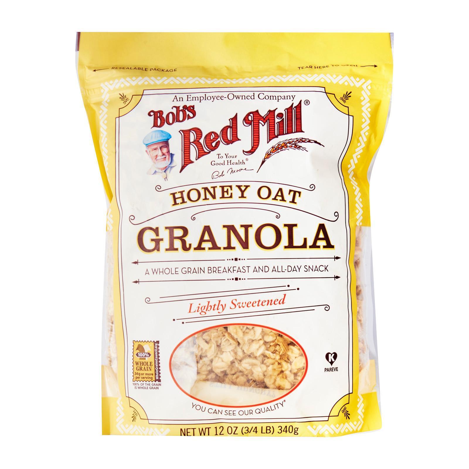 Bob's Red Mill Whole Grain Honey Oat Granola Lightly Sweetened