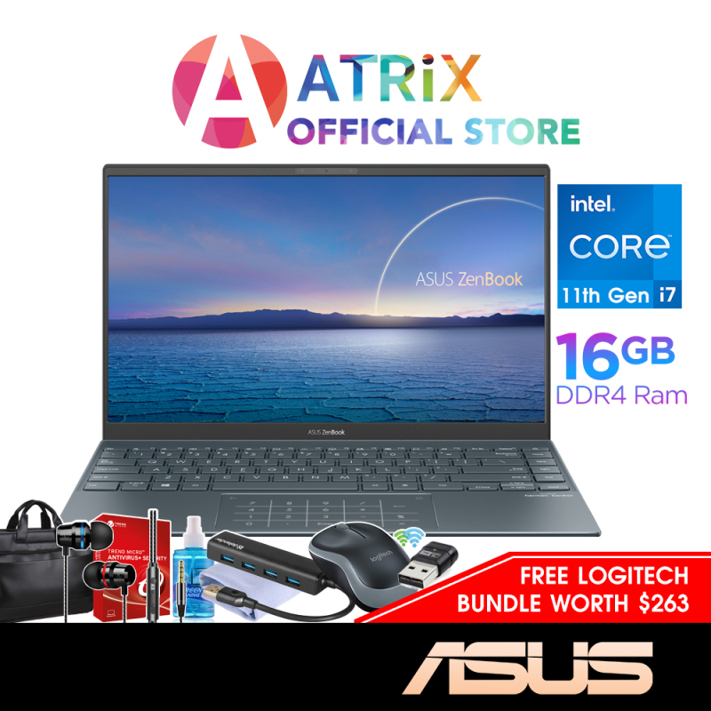 【Same Day Delivery】ASUS Zenbook 14 UX425EA-KI440T 1.17Kg〖Free MS Office〗14inch FHD Slim IPS 400nits   Intel Core i7-1165G7   16GB LPDDR4x   512GB SSD   Thunderbolt™ 4   2Y ASUS Warranty