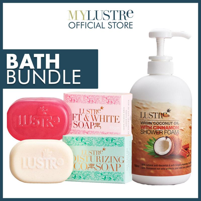 Buy Lustre Bath Bundle   Shower Foam + Soap   Moisturize & Whitening Skin Effect Singapore