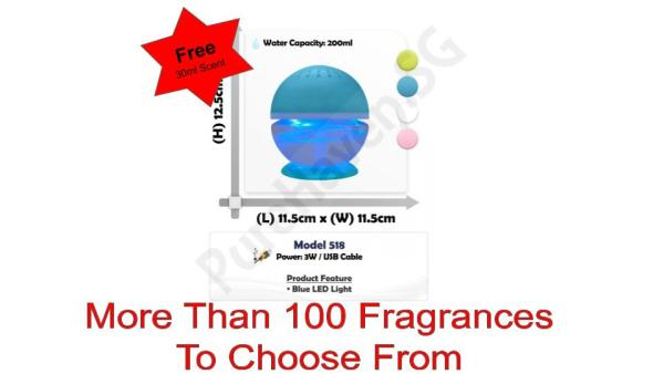 [BNIB] FOC 30ml Scent Liquid! Model 518 Mini Car Water Air Purifier 200ml. With Blue LED Lights Singapore