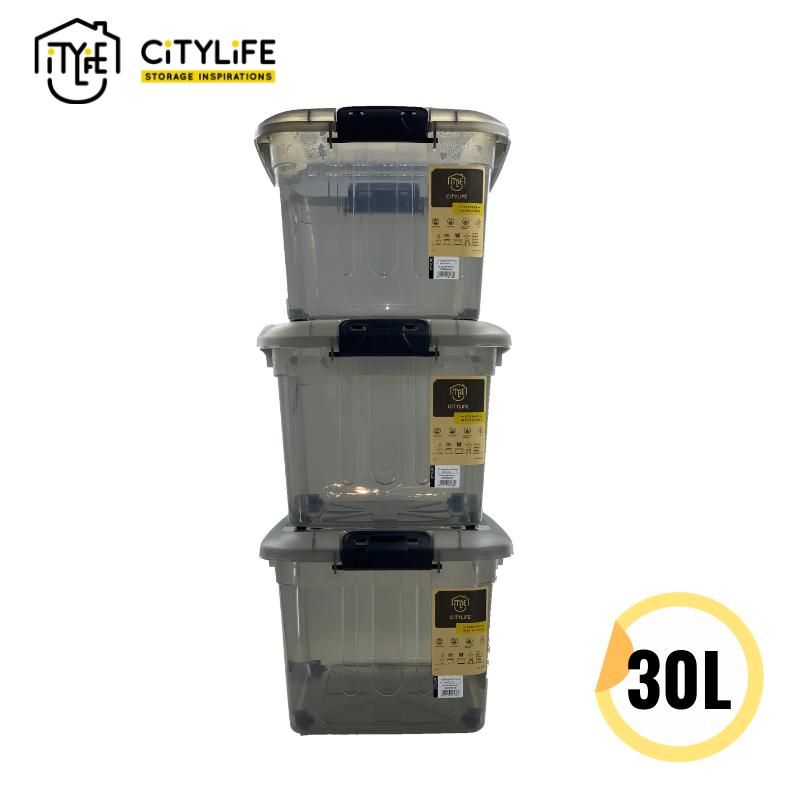 [Bundle of 3] - Citylife 30L Storage Box W Wheels