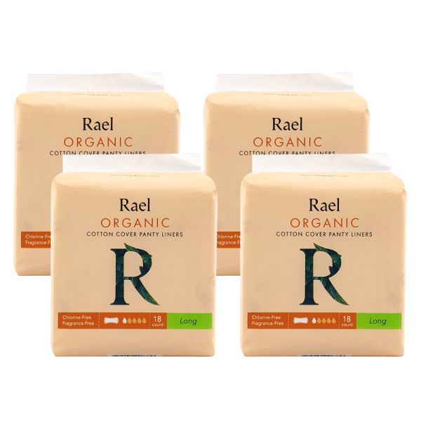 Buy [Bundle of 4] Rael Panty Liners with Certified Organic Cotton Cover - Long 18s Singapore