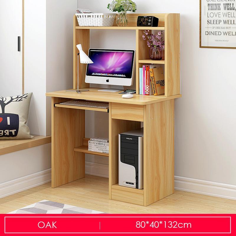 Wooden Desktop Study Table With Storage Organizer-80cm