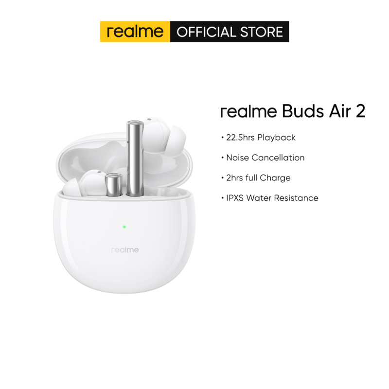 realme Buds Air 2 | Noise cancellation | 2 hrs full charge | IPXS water resistance | 22.5hrs playback Singapore