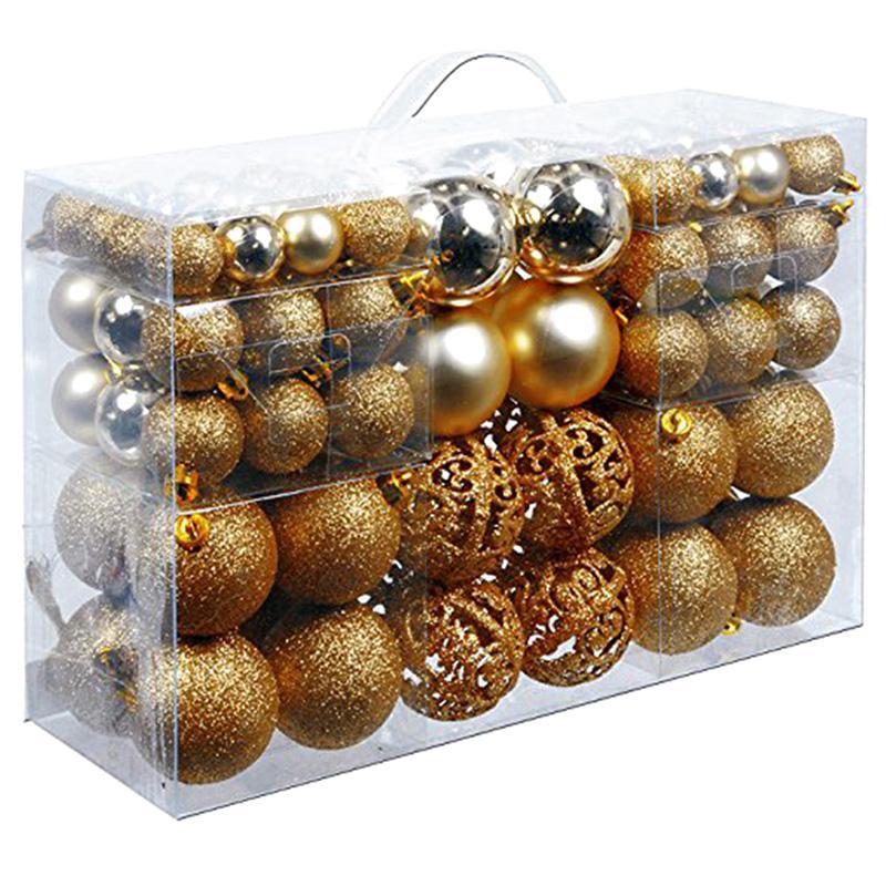 100Pcs/Box Christmas Ball Box Set Available Lightweight Holiday Christmas Tree Ornament Decorations Khuyến Mại Hot