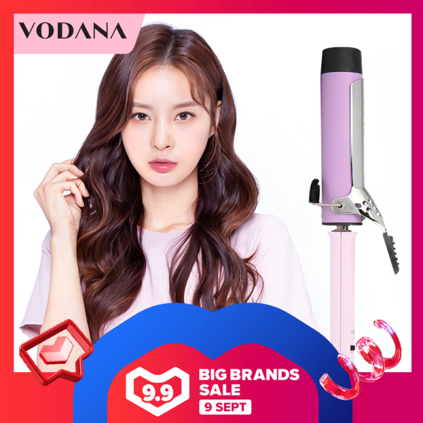 Buy VODANA  Hair Curler   32mm  Ceramic Heating Plate Not Hurt Hair  Negative Ions curly hair iron   Curling Iron Curl Wand Fast Heating Hair Styling Tools With 360° Rotating Power Cord  curling wand korean   (Black/Pueple) Singapore