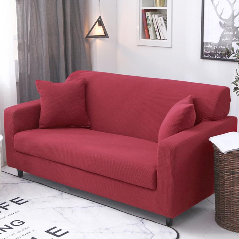 Single Person Double Elasticity Sofa Cover All Edges Included Four Seasons Swastika Can Universal Full Cover Fabric Sofa Cover Sofa throw pillow