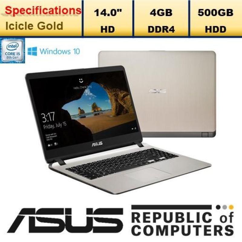 ASUS A407UA-BV579T / Intel Core i5-8250U Processor / Window 10 Home / 14.0 / 4GB RAM / 500GB HDD