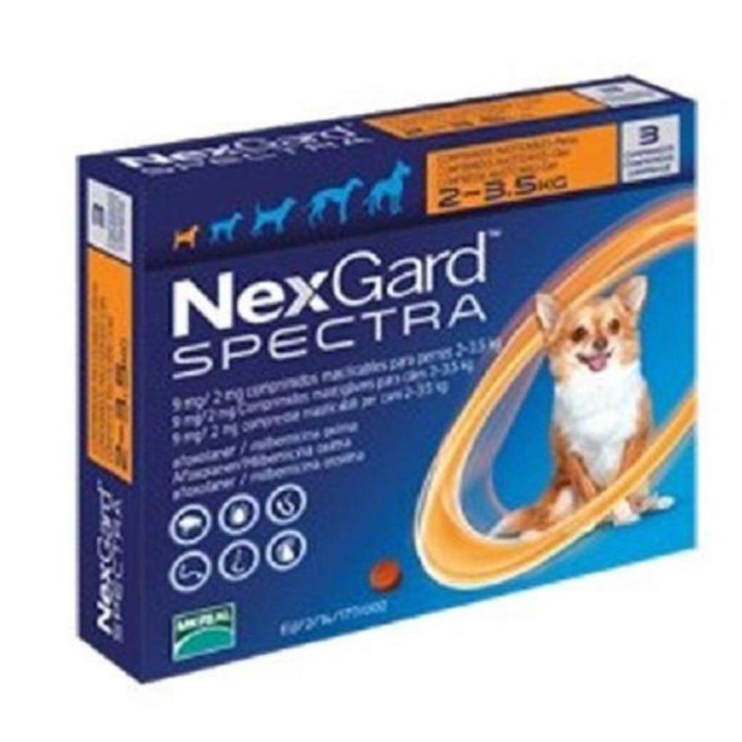 [free Shipping] Nexgard Spectra For X Small Dogs 2 To 3.5kg, 3 Chews In A Pack.