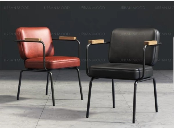 [Pre-Order] RONNIE Vintage Faux Leather Office Dining Chair