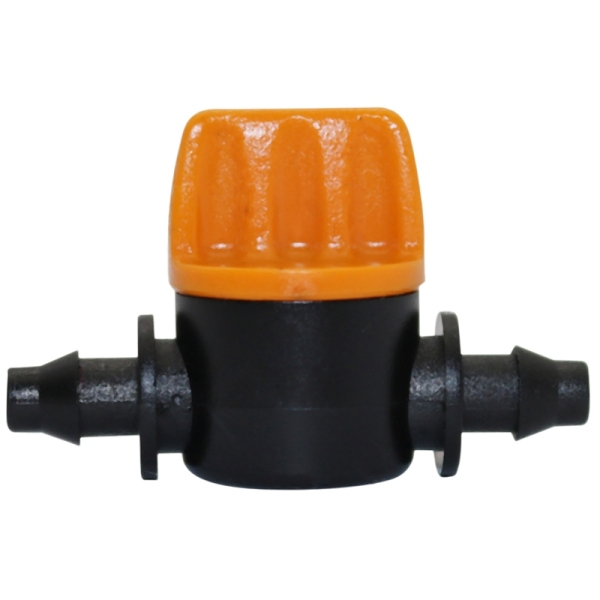 Mini Valve With 4/7Mm Hose Garden Irrigation Barbed Water Flow Control Valve Agriculture Tools Drip Irrigation Fittings 10 Pcs