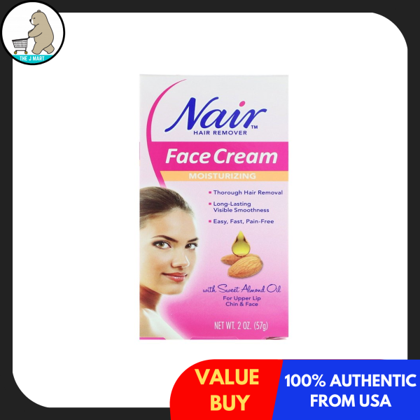 Buy Nair , Hair Remover, Moisturizing Face Cream, For Upper Lip, Chin and Face, 2 oz (57 g) Singapore