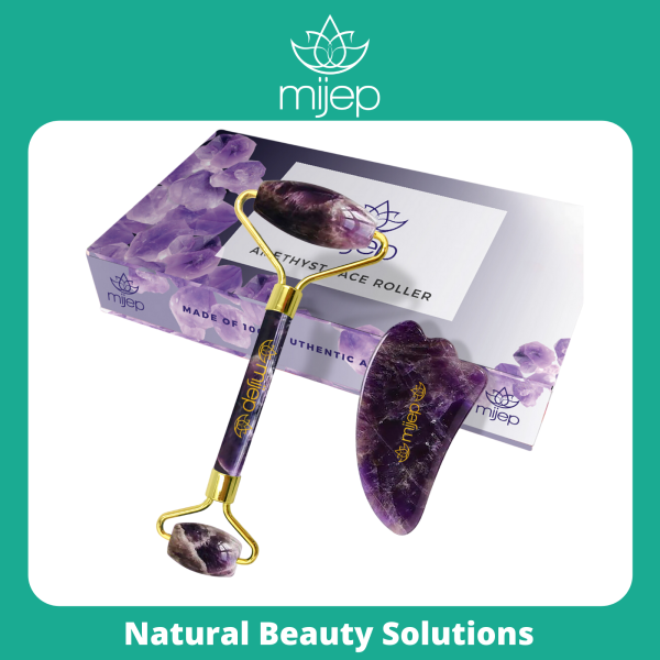 Buy Amethyst Roller & Gua Sha - Stunning Premium Quality Natural Stone Facial GuaSha and Face Massager Tools. Traditional Crystal Facial Scraping Tool and Rollers (Jade Roller Alternative) Singapore