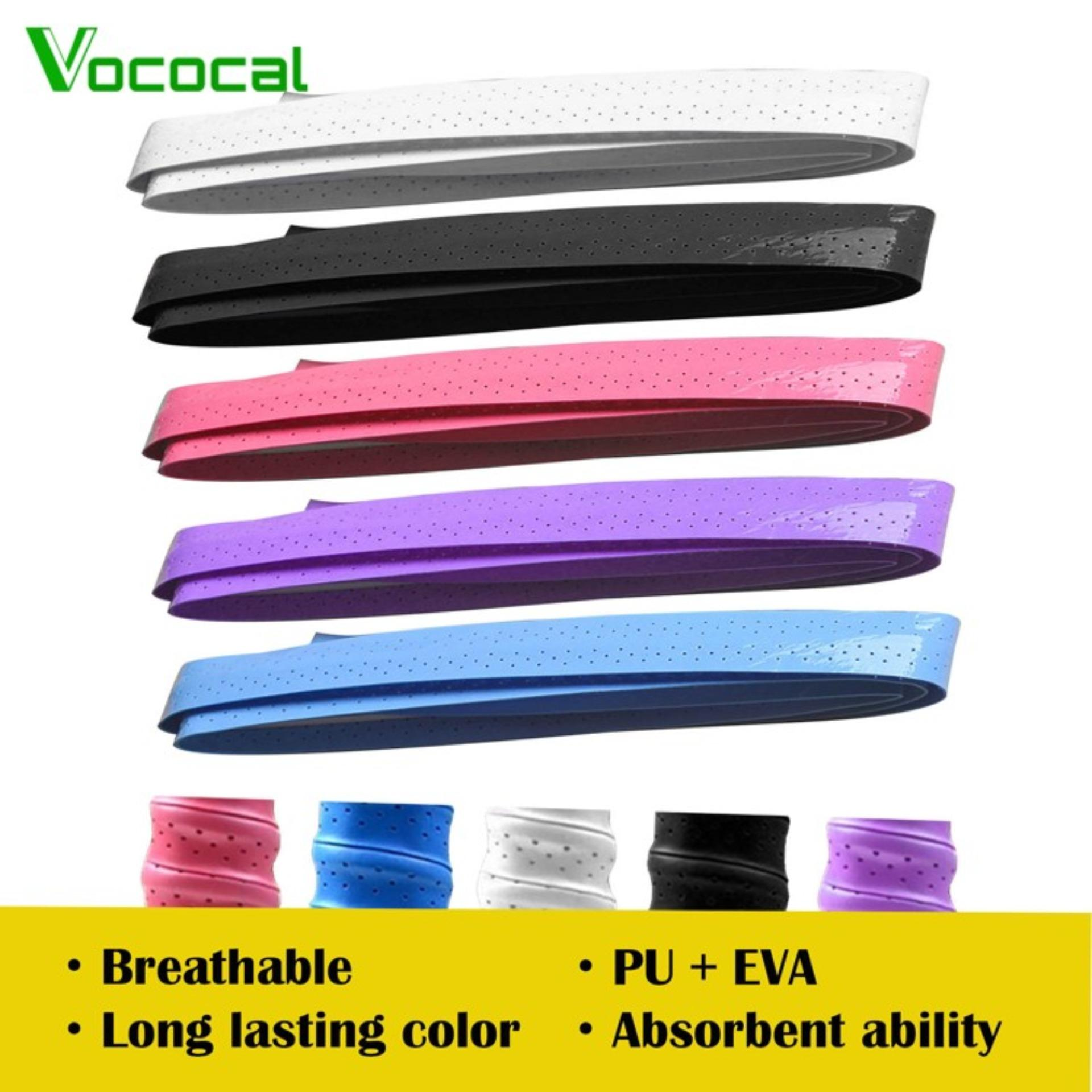 Vococal 5 Pcs Anti-Slip Perforated Sweat Absorbent Tennis Squash Badminton Racket Battledore Overgrip Fishing Rod Bike Bar Grip Tape (in Stock) By Vococal Shop.