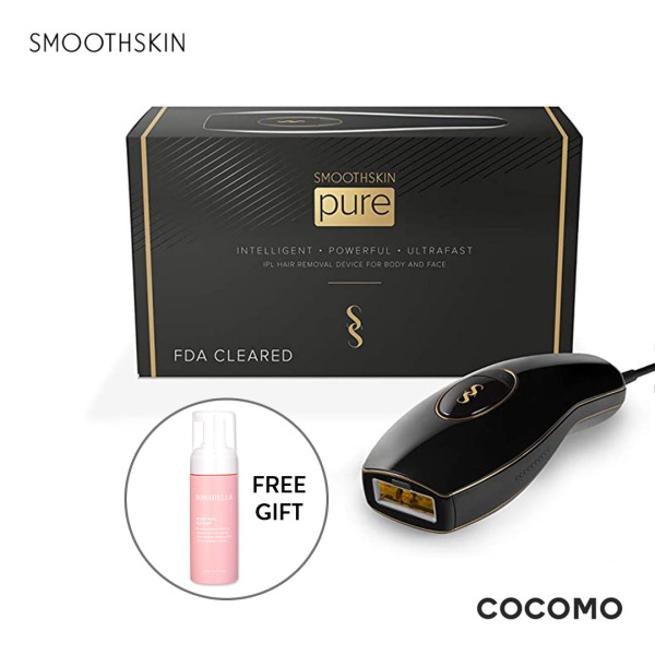 Buy (SmoothSkin) Pure Black IPL Hair Removal Device + Free Bonabella Secret Pure Cleanser 150ml - COCOMO Singapore