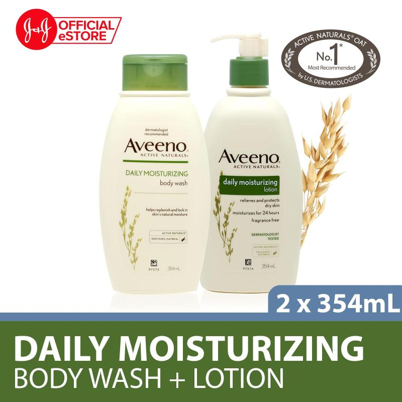 Buy Aveeno Body Wash Daily Moisturizing 354ml + Aveeno Body Lotion Daily Moisturizing 354ml Singapore