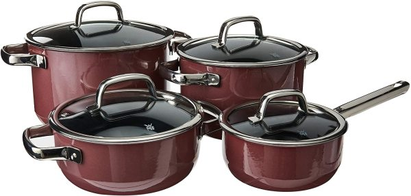 WMF Fusiontec 4 Piece Kitchen Cooking Pot Saucepan Cookware Set Dark Brass Brown or Red. MADE IN GERMANY. Singapore
