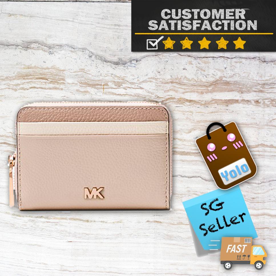 2b5ad9e1d7da Michael Kors Small Color-Block Pebbled Leather Wallet