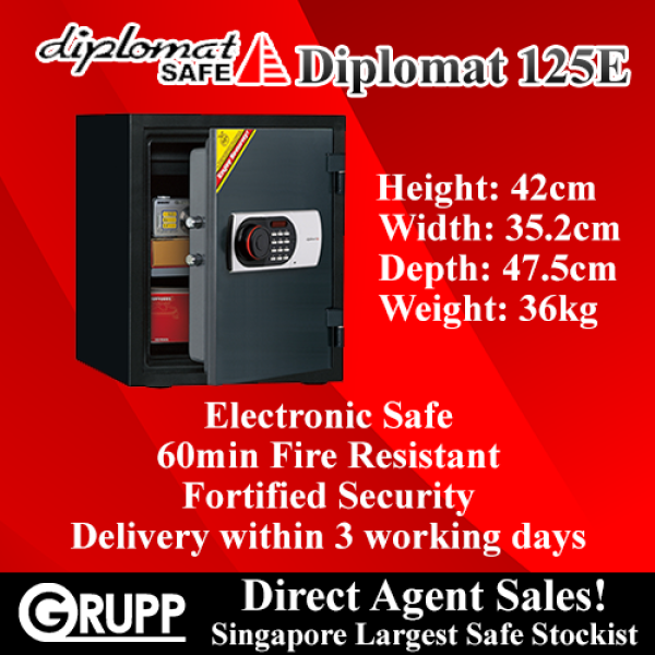Diplomat Safe 125E Electronic Fire Safe