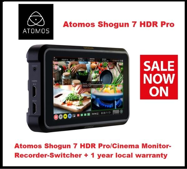 Atomos Shogun 7 HDR Pro/Cinema Monitor-Recorder-Switcher + 1 year local warranty