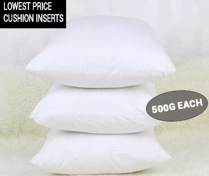 (Pack of 3) Premium Fluffy Square Cushion Filling Inserts - 100% PP Fiber 18x18 / 50cm x 50cm