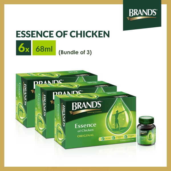 Buy [Bundle of 3] BRANDS® Essence of Chicken 6 Bottles x 68ml x 3 Packs Singapore