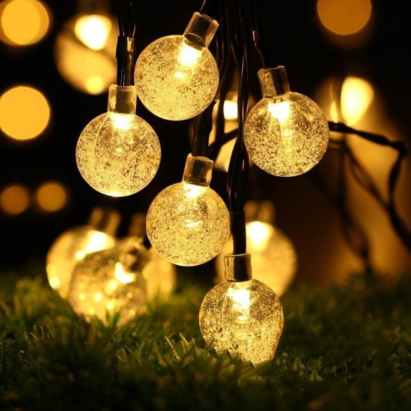 *SG seller*  CNY deco 12M 100pcs /22M 200PCS LED Light Solar Powered Fairy Bubble Ball String Light Outdoor for Christmas Festival Garden Decorative Lamp