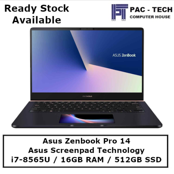 [Ready Stock] ASUS Zenbook Pro 14 UX480FD-E1049T / 14 Full HD Touchscreen / i7-8565U / 16GB RAM / 512GB PCIE SSD / Nvidia GTX1050 with Max-Q/ Windows 10