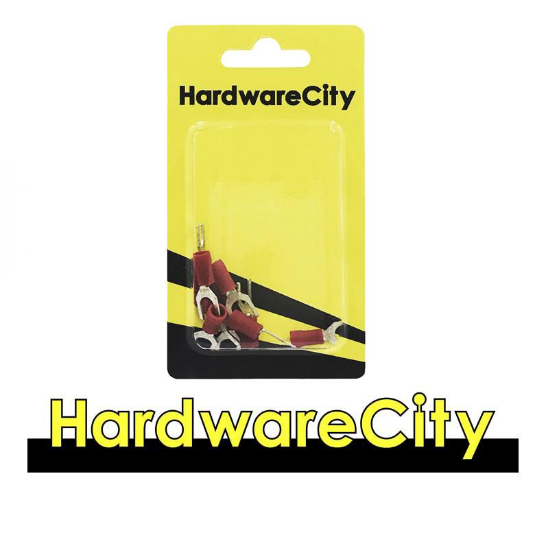 HardwareCity Insulated Fork Crimp Connectors, Red (22AWG - 16AWG), 10PC/Pack