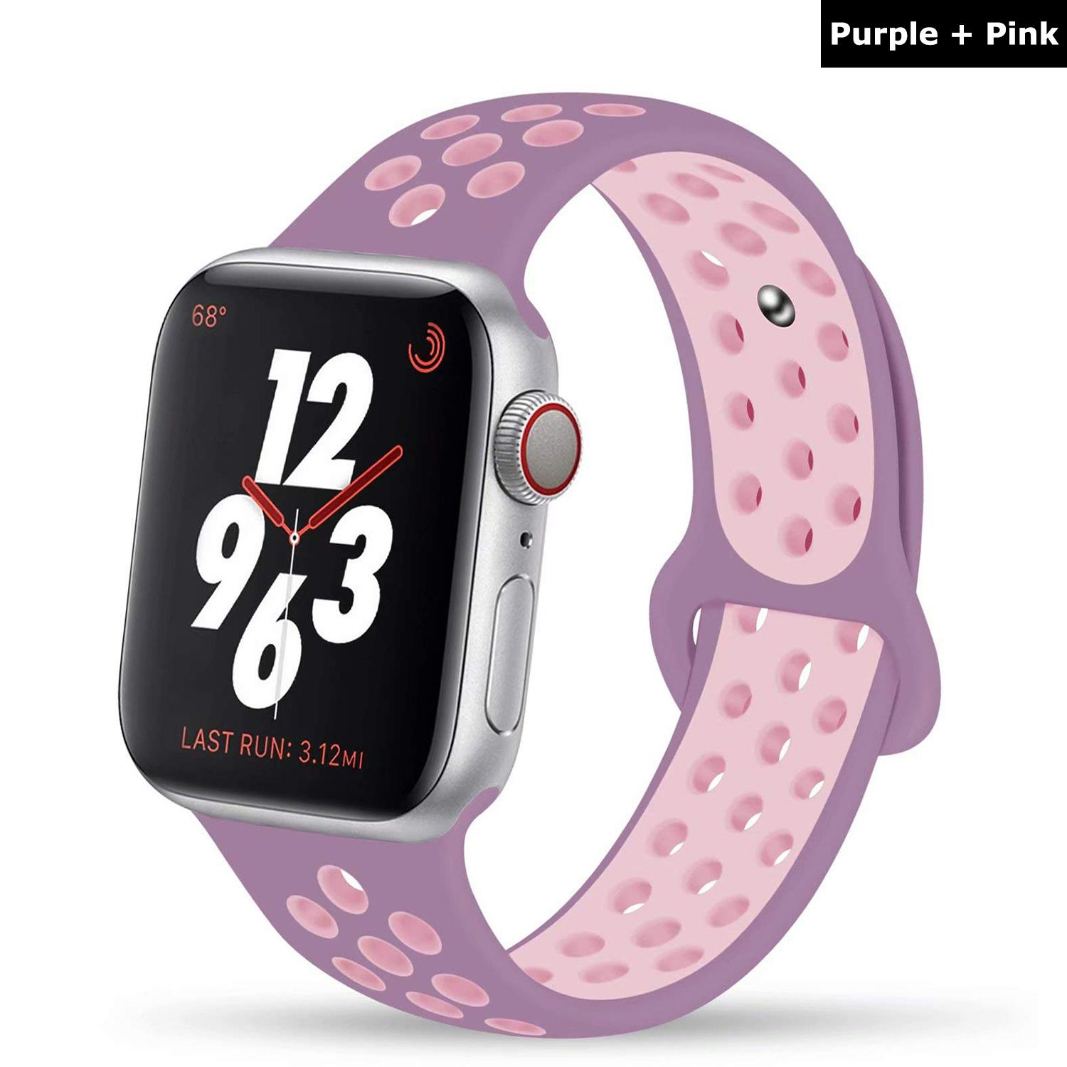 dc40323618dd8d [SG] Apple Watch (44mm 42mm) Breathable Sports Wrist Strap - For iWatch
