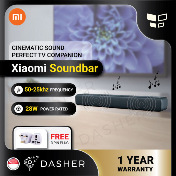 [FREE 3PINPLUG] Xiaomi Mi 33 inch Soundbar Bluetooth 4.2 Audio Speaker Sound Bar Cn Version Singapore