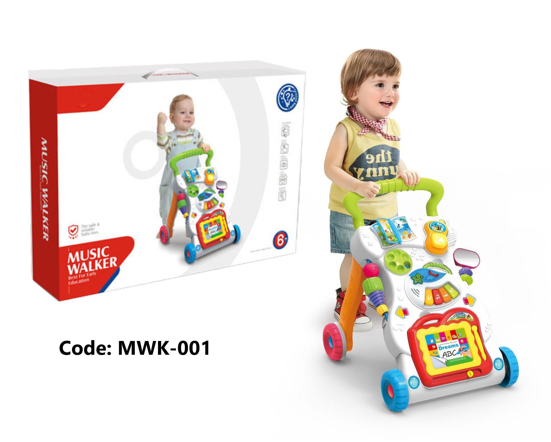 Activity & Gear Folding Baby Walker Music Game Table Multifunction 2in1 Push Early Childhood Boy First Walkers With Wheels Toy 0-1 Years Attractive Designs;