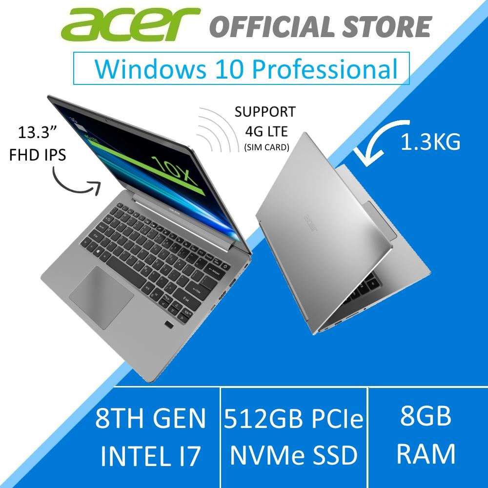 Acer Swift 3 SF313-51-8806 (SLV) 13.3-Inch FHD IPS with 4G LTE  - Windows 10 Professional