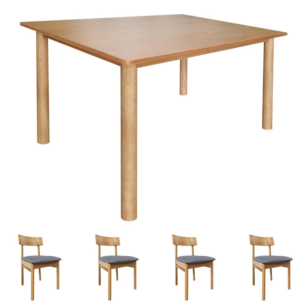 Kacey Dining Set (Oak)