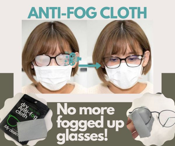 Buy Anti Fog Cloth for Glasses No more Foggy Glasses! FAST SHIPPING Fabric microfibre Anti-Fog Cloth for effective results Singapore seller Singapore
