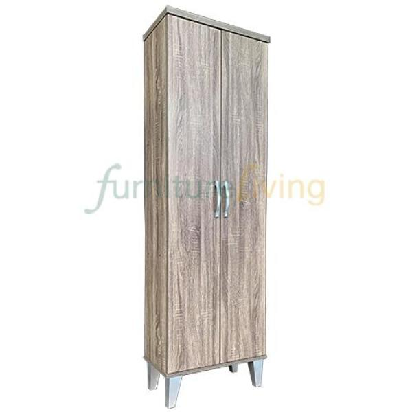 Furniture Living Tall Shoe Cabinet (Sonoma Oak)