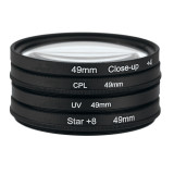 Who Sells 49Mm Uv Cpl Close Up 4 Star 8 Point Filter Circular Filter Kit Filter With Bag The Cheapest