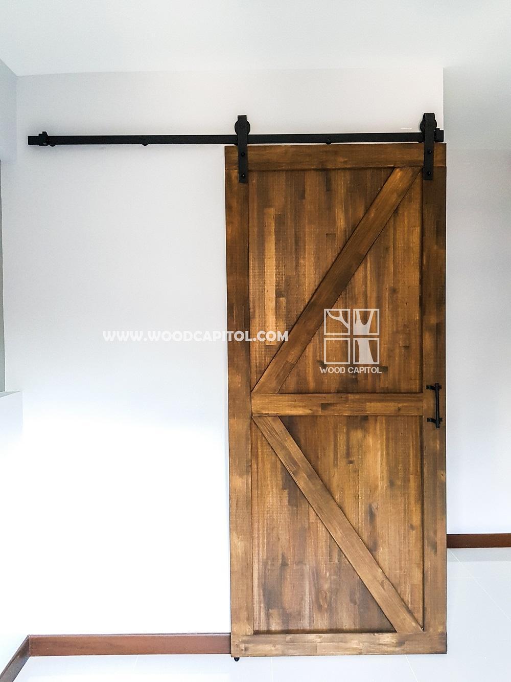 Wood Capitol Rustic Door