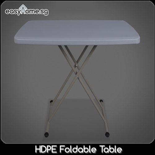 HDPE Foldable Table / Portable Travel Outdoor Folding Desk / Multi-Purpose Study Computer Laptop