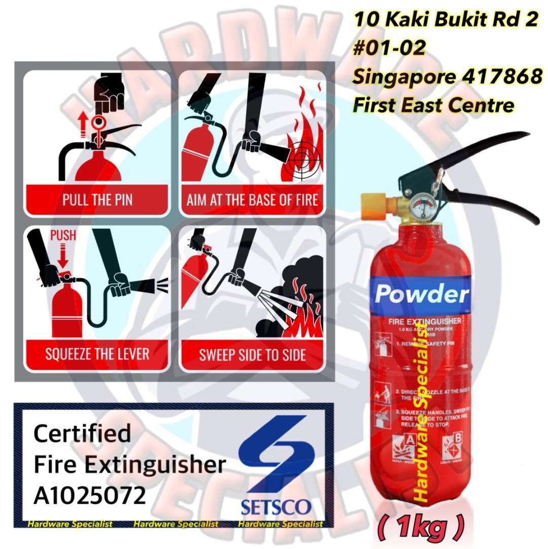 Setsco Certified PASSED ABC Powder Fire Extinguisher
